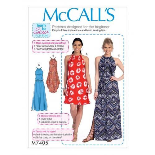 Patron Mc Call's M7405 : Robes et ceinture 32-42