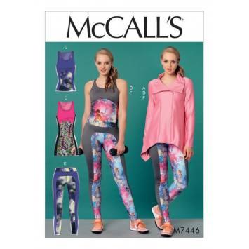 Patron Mc Call's M7446 : Veste, hauts tunique et collants pour jeune femme 34-42