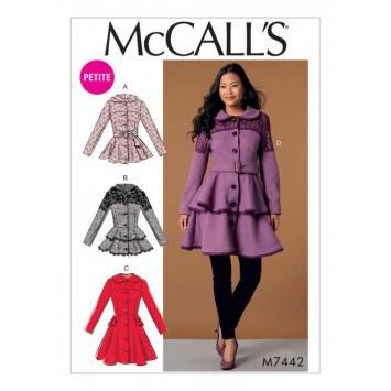Patron Mc Call's M7442 : Vestes, manteaux et ceinture pour jeune femme 42-50