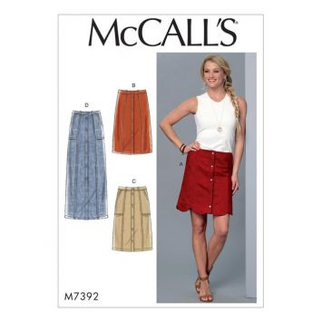 Patron Mc Call's M7392 : Jupes pour jeune femme 34-42