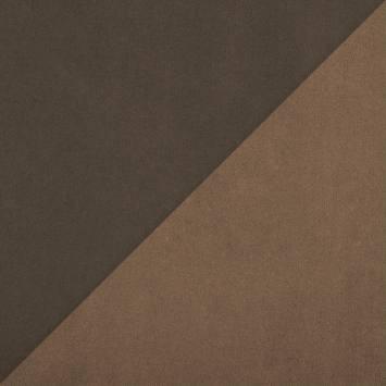 Suédine réversible marron et taupe
