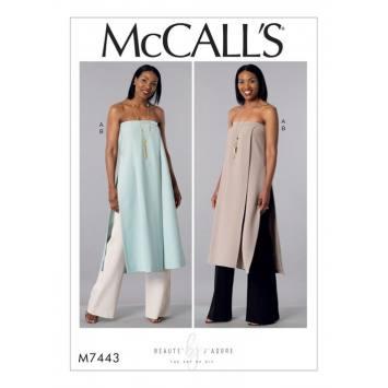 Patron Mc Call's M7443 : Tunique et pantalon pour jeune femme 42-50.