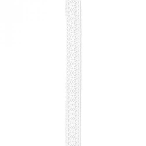 Ruban de dentelle coton blanc 15mm