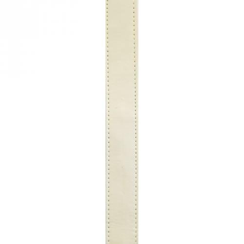 Sangle simili cuir crème 25 mm
