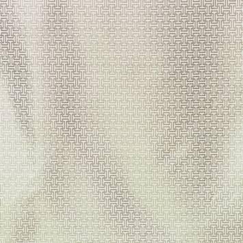 Jacquard ivoire et argenté à motif labyrinthe