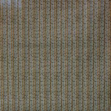 Toile polycoton noire imprimée frise cuivre et blanche