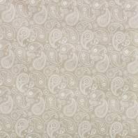Tissu enduit impression cachemire beige