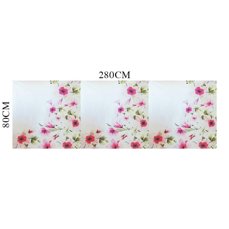 coupon 80x280 coton percale blanc motif fleur rose pas. Black Bedroom Furniture Sets. Home Design Ideas