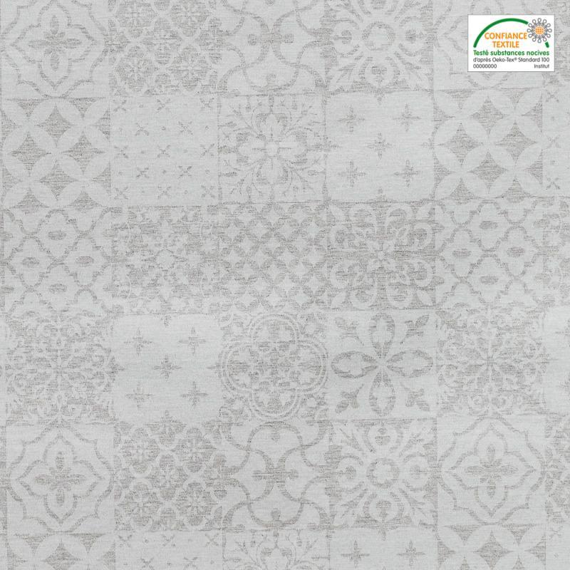 jacquard enduit gr ge brillant motif g om trique pas cher tissus price. Black Bedroom Furniture Sets. Home Design Ideas