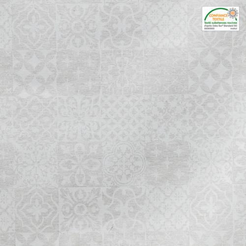 Jacquard grège brillant à motif géométrique