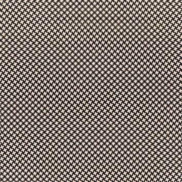 Toile polycoton noire motif pied de poule beige