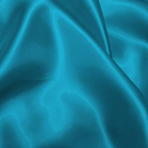 Satin uni bleu pétrole 110cm