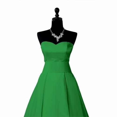 Satin extensible vert