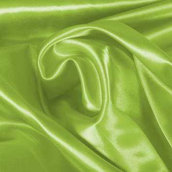 Satin extensible vert anis