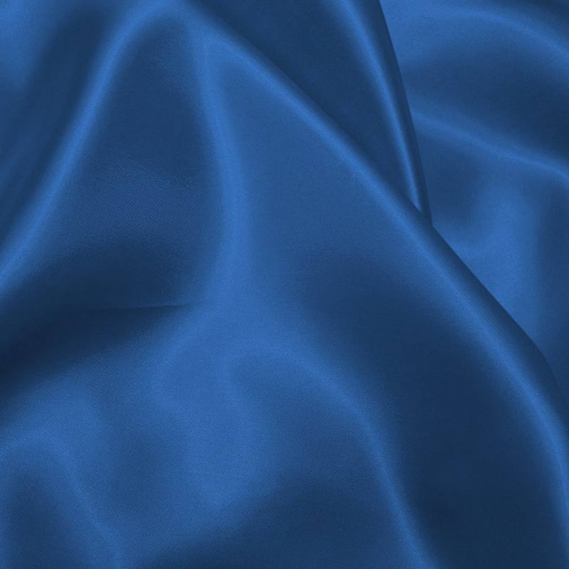 satin uni bleu saphir 150 cm pas cher tissus price. Black Bedroom Furniture Sets. Home Design Ideas