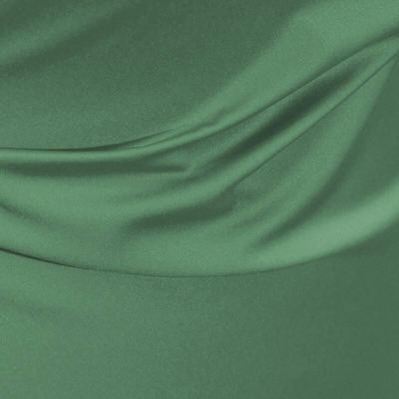 Satin microfibre royal vert amande