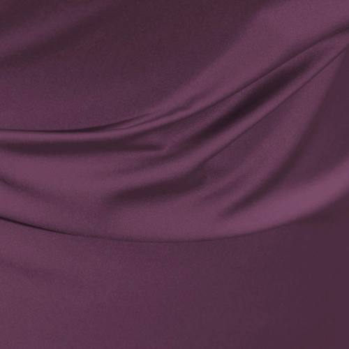Satin microfibre royal prune