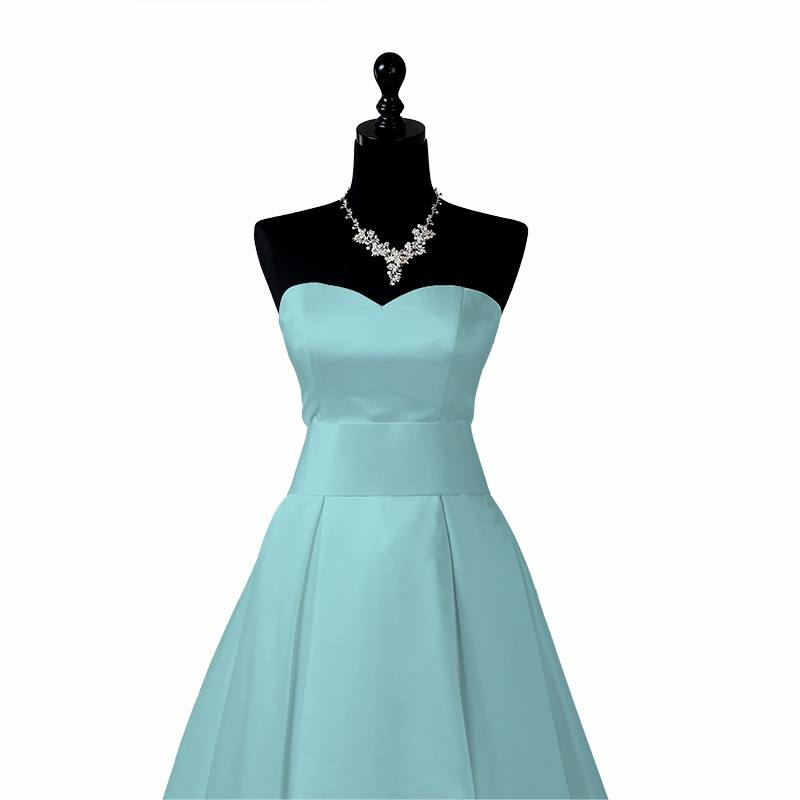 Satin duchesse bleu ciel