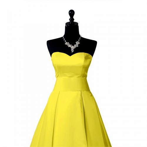Satin extensible jaune