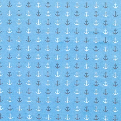 Jersey bleu ciel imprimé ancre