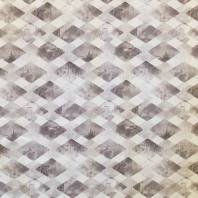 Coton impression numérique à motif losanges blancs et gris