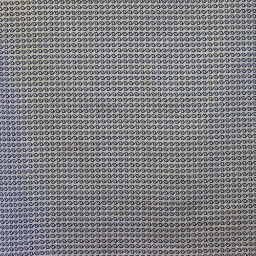 Coton gris motif vague