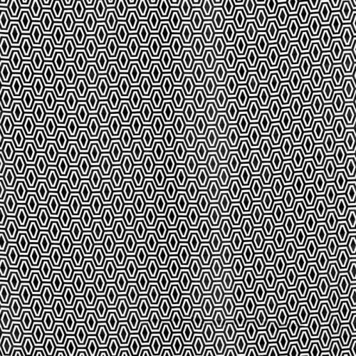 Tissu mousseline noir imprimé polygone