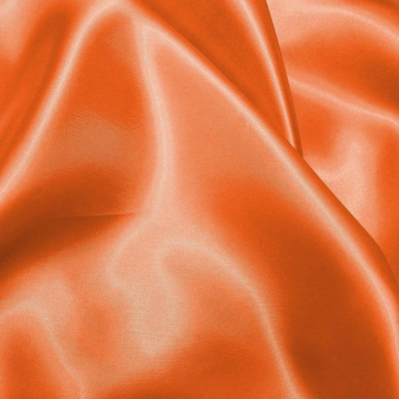 Satin uni orange 150 cm