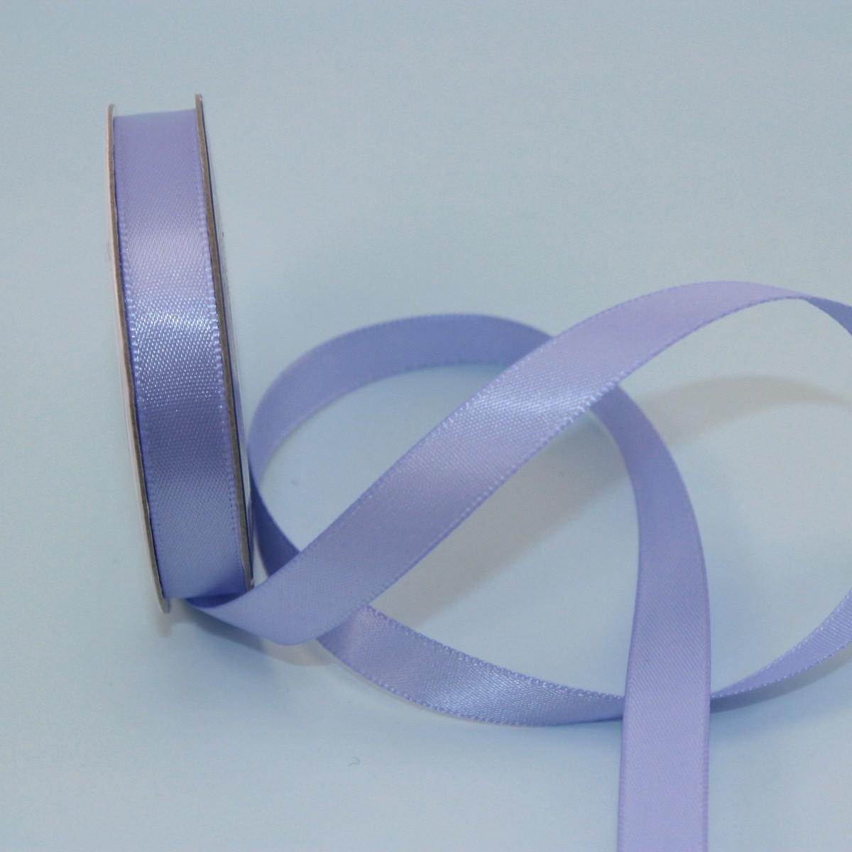 Ruban satin en bobine bleu lavande 9 mm