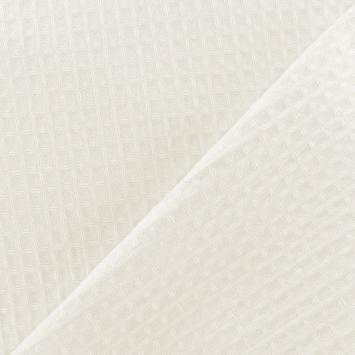 Tissu éponge nid d'abeille écru