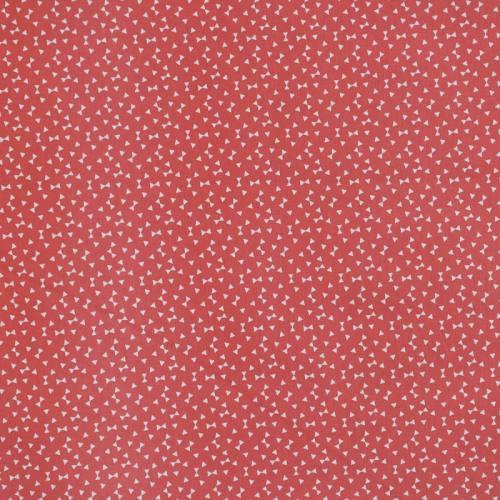 Coton rouge brique imprimé petit triangle blanc