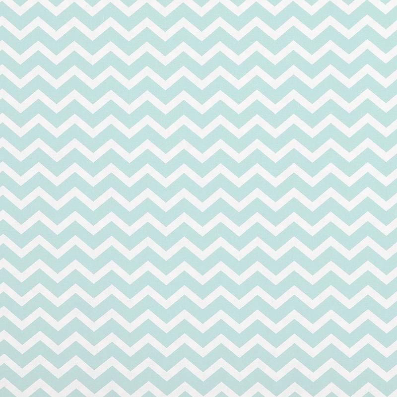 coton vert d 39 eau imprim chevron pas cher tissus price. Black Bedroom Furniture Sets. Home Design Ideas