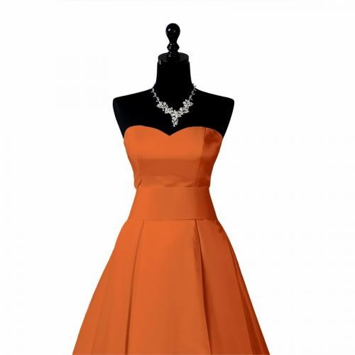 Satin uni orange 150 cm