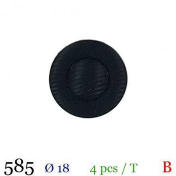Bouton rond bleu marine à queue 18mm