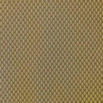Jacquard noir et jaune motif losange géométrique