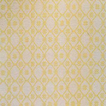Jacquard motif losange jaune