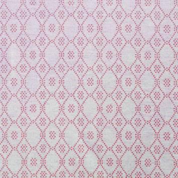 Jacquard fuchsia motif losange