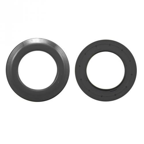 Lot de 8 oeillets ronds clipsables gris