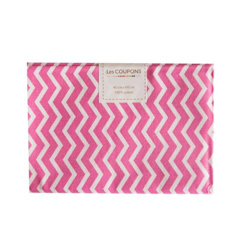 Coupon 40x60 cm coton rose chevron