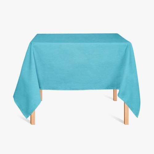 Tissu enduit turquoise