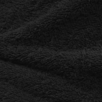 Tissu éponge noir