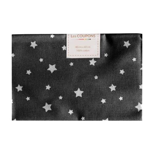 Coupon 40x60 cm coton noir zétoile