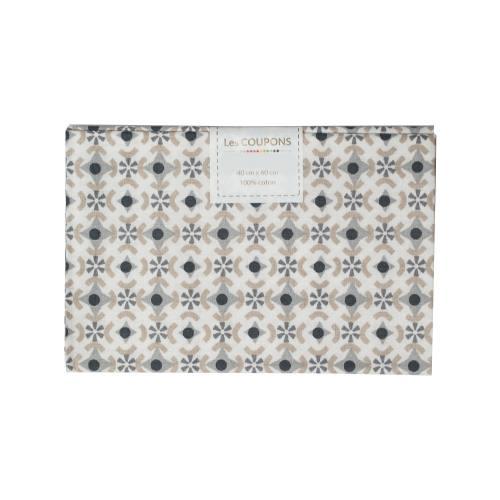 Coupon 40x60 cm coton againeg noir et gris