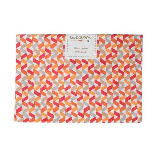 Coupon 40x60 cm coton tregolo orange