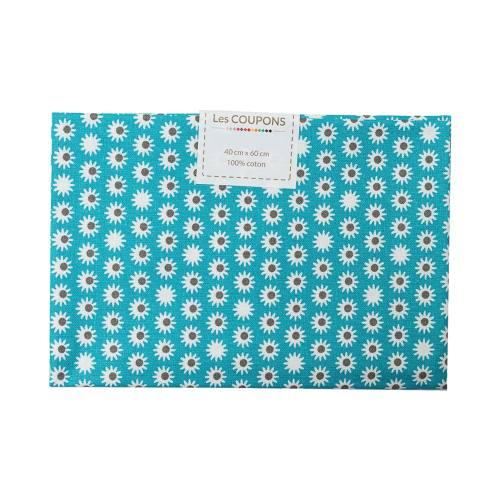 Coupon 40x60 cm coton pik bleu pétrole