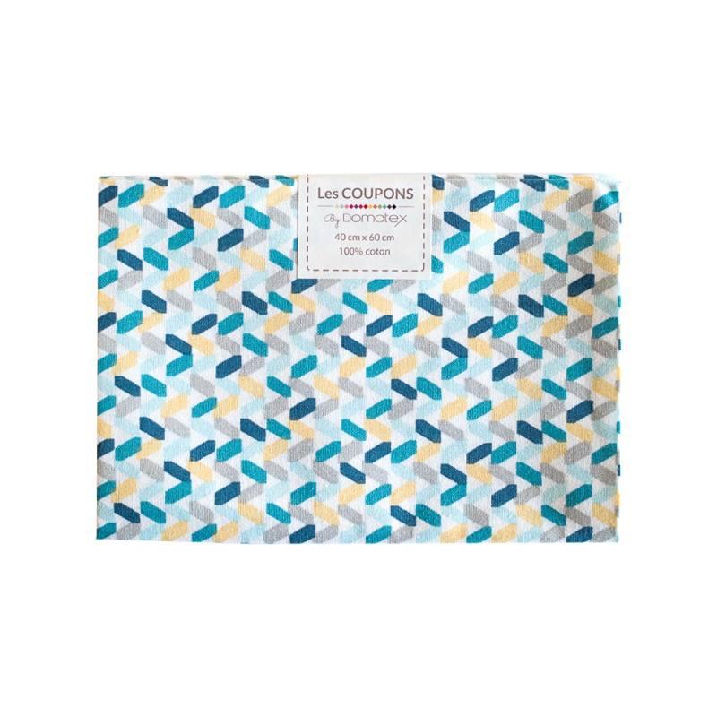 Coupon 40x60 cm coton tregolo bleu