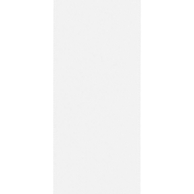 Ruban satin double face blanc 66mm