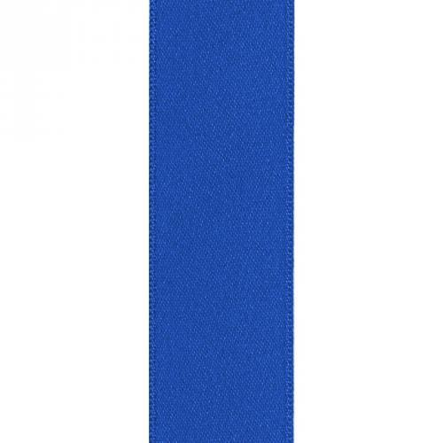 Ruban satin double face bleu 39mm