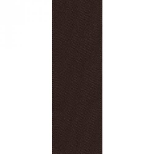 Ruban satin double face chocolat 39mm