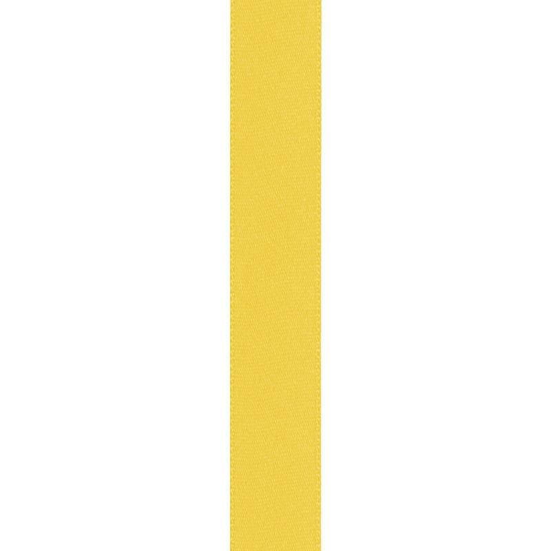 Ruban satin double face jaune 15mm